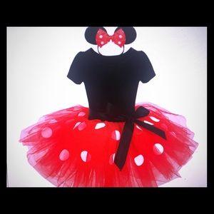 Minnie Mouse Disney Polka Dot Princess tutu dress